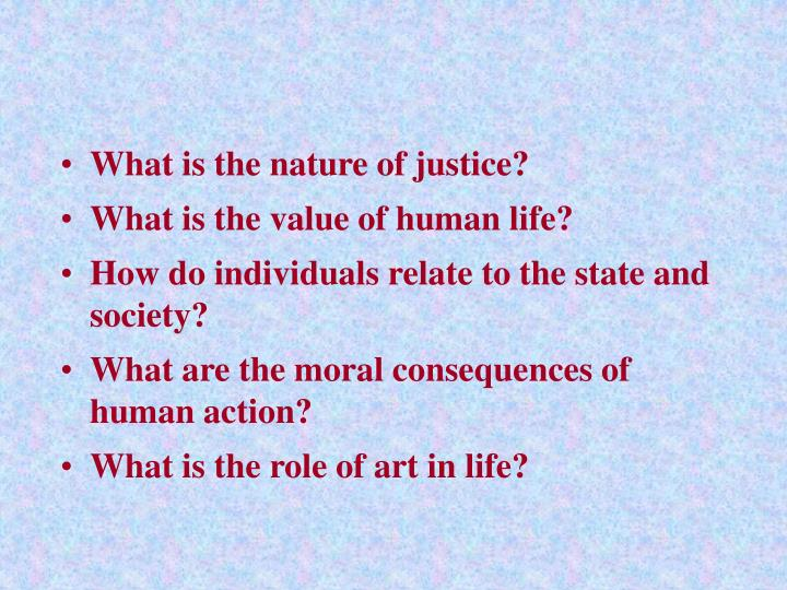 What is the nature of justice?