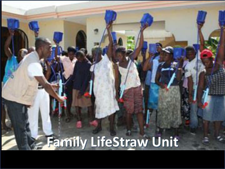 Family LifeStraw Unit