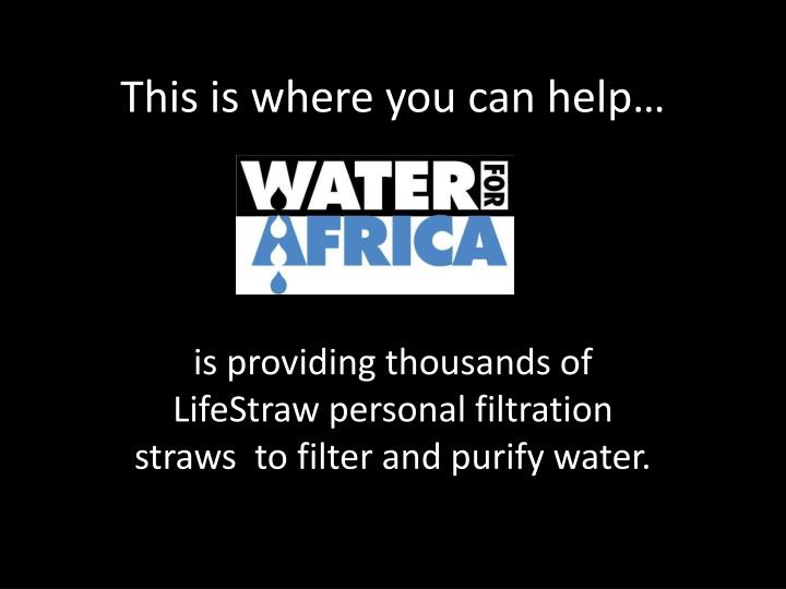 This is where you can help…