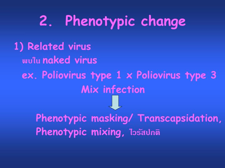 2.  Phenotypic change