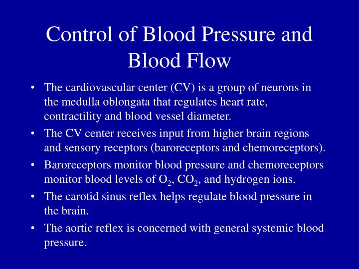 Control of Blood Pressure and Blood Flow