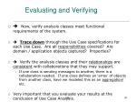 evaluating and verifying
