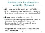 non functional requirements verifiable measured