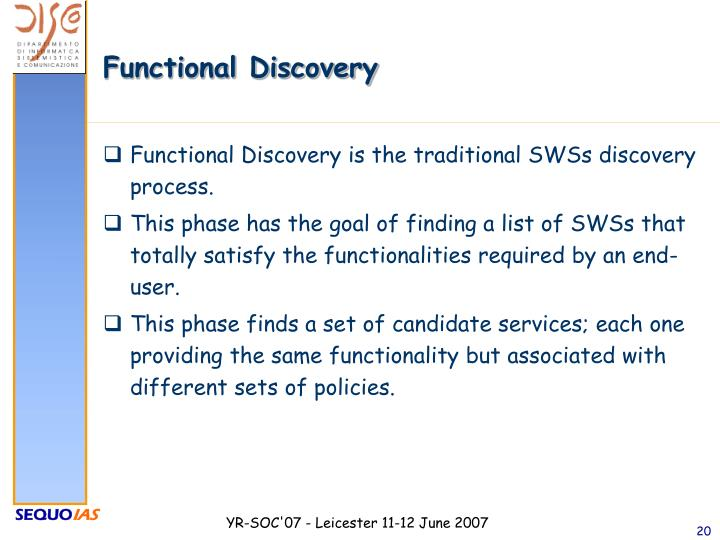 Functional Discovery