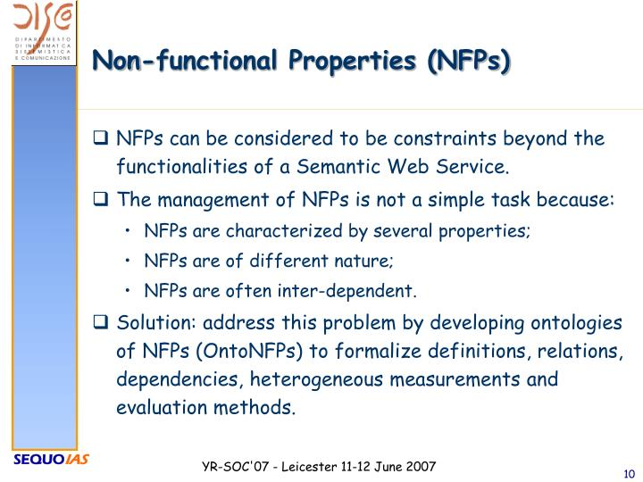 Non-functional Properties (NFPs)