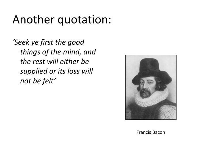 Another quotation: