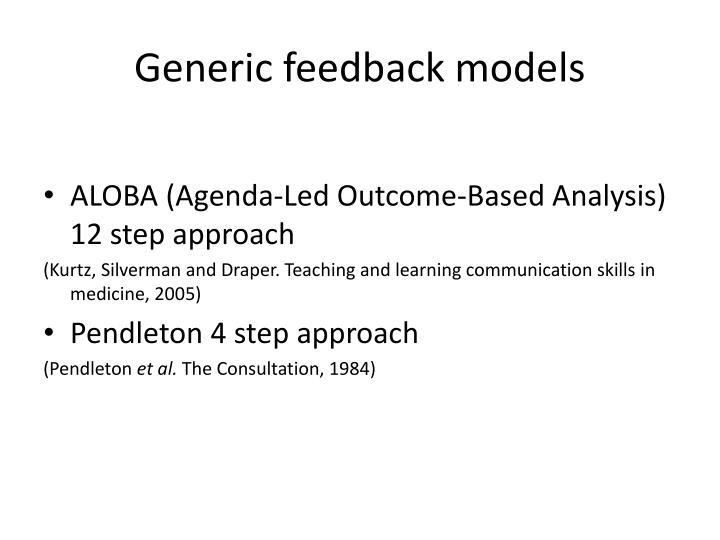 Generic feedback models