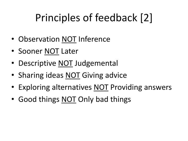 Principles of feedback [2]