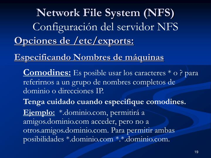 Network File System (NFS)