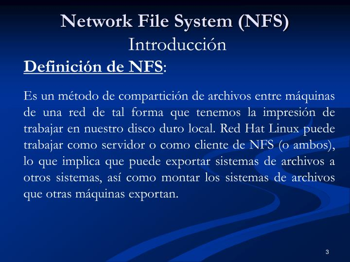 Network file system nfs introducci n