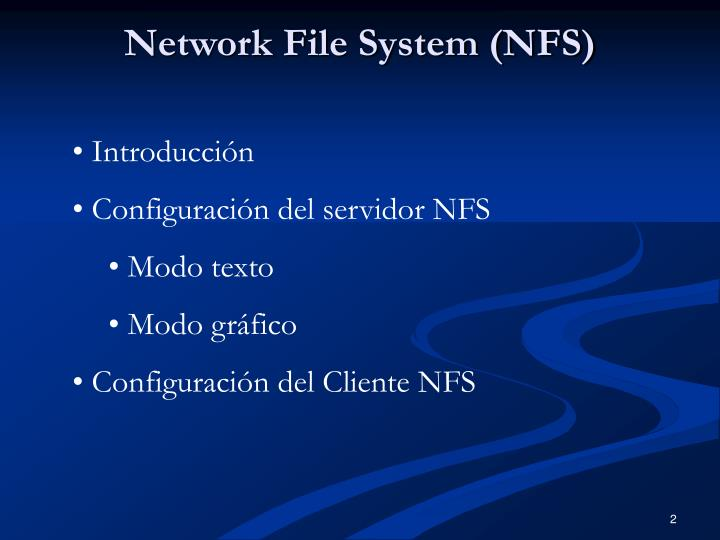 Network file system nfs1