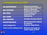 componentes do nfs