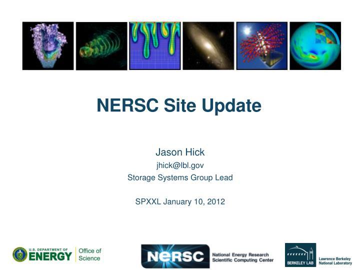 Nersc site update