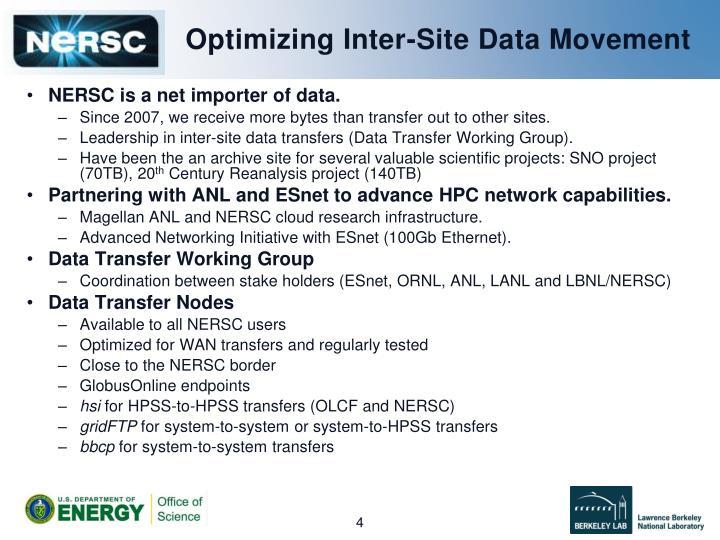 Optimizing Inter-Site Data Movement