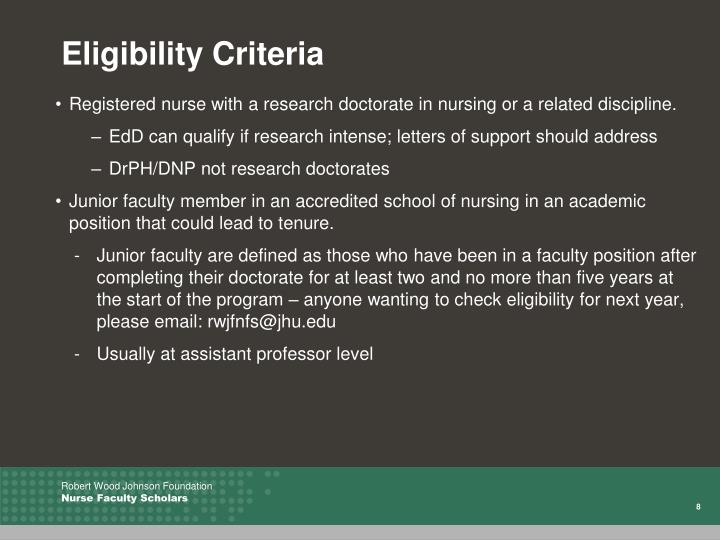 Registered nurse with a research doctorate in nursing or a related discipline.