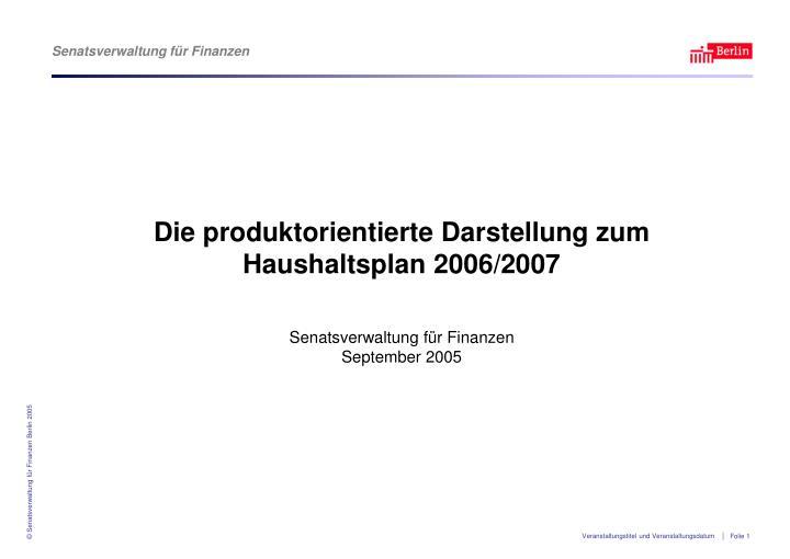 Die produktorientierte Darstellung zum