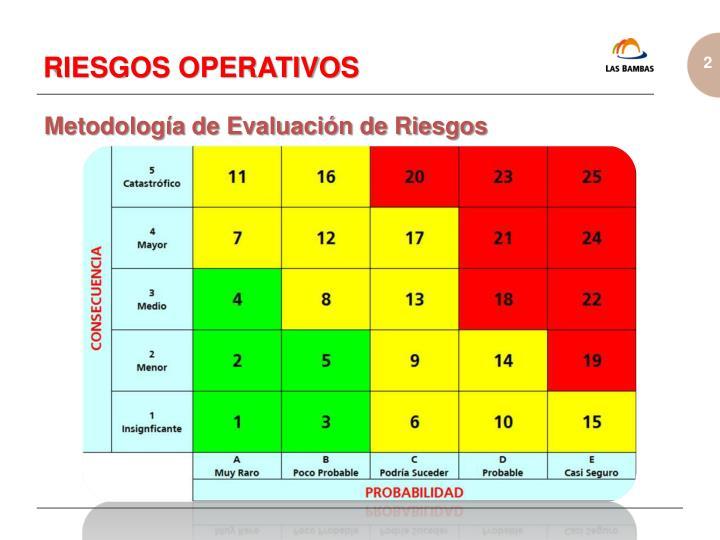 Metodología de Evaluación de Riesgos