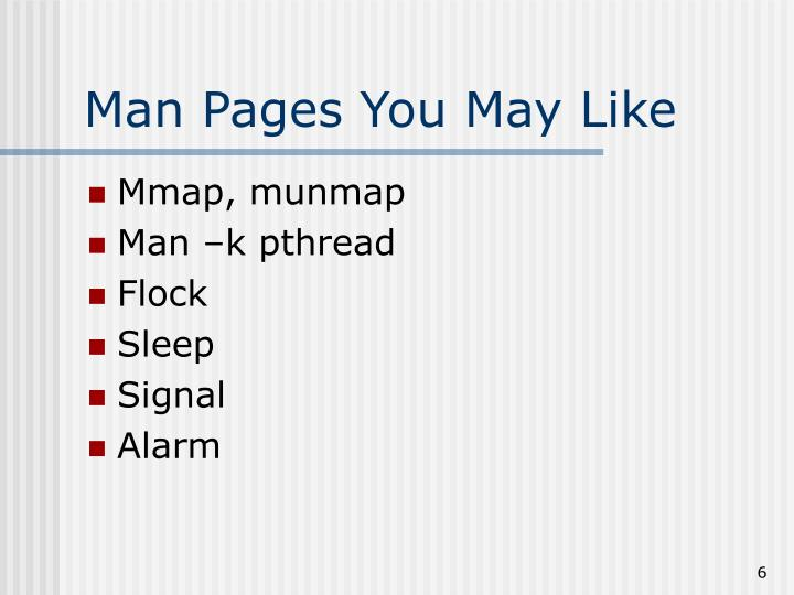 Man Pages You May Like