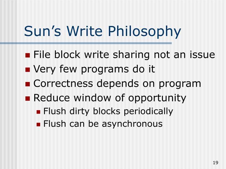 Sun's Write Philosophy