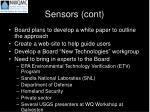 sensors cont