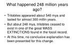 what happened 248 million years ago