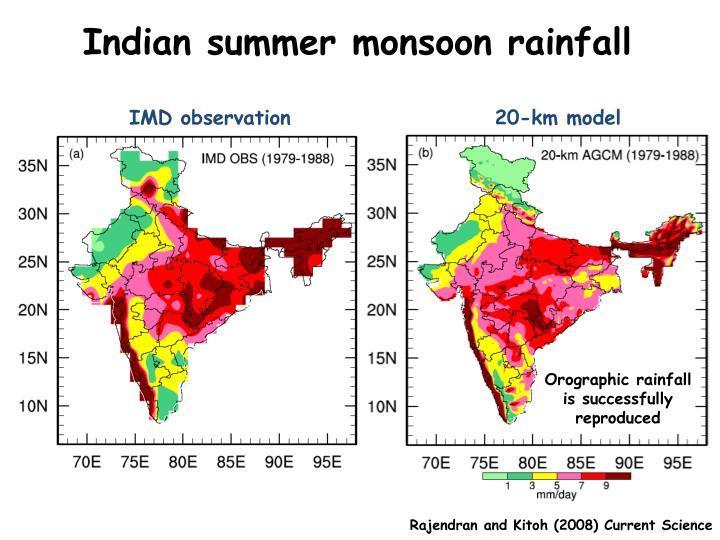 Indian summer monsoon rainfall