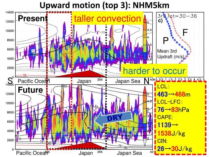 Upward motion (top 3): NHM5km