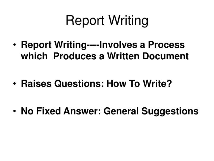 Report writing1