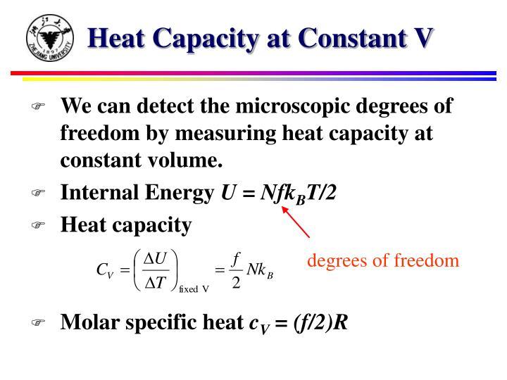 Heat Capacity at Constant V