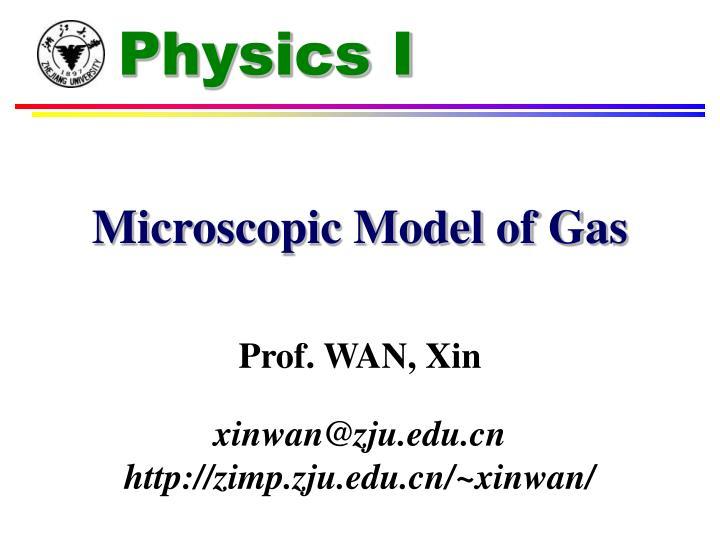 Microscopic model of gas