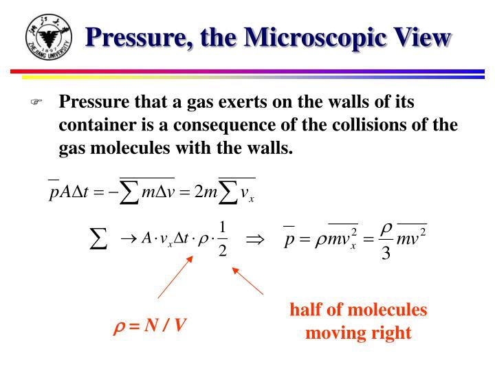 Pressure, the Microscopic View