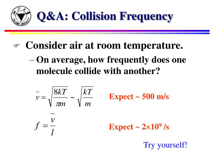Q&A: Collision Frequency