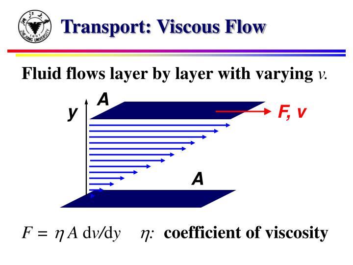 Transport: Viscous Flow