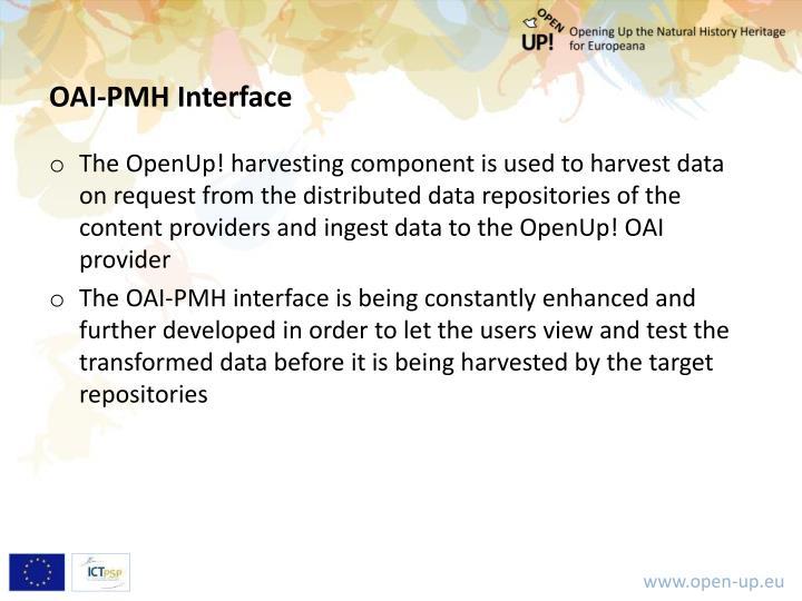 OAI-PMH Interface