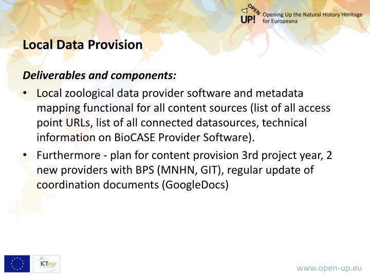 Local Data Provision