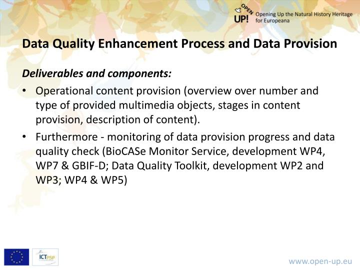 Data Quality Enhancement Process and Data Provision