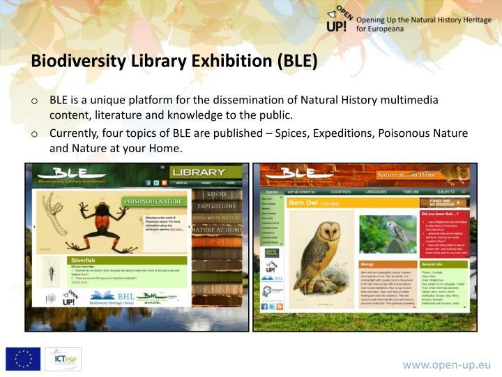 Biodiversity Library Exhibition (BLE)