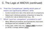 c the logic of anova continued