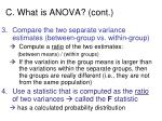 c what is anova cont