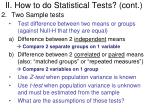 ii how to do statistical tests cont