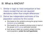iii what is anova