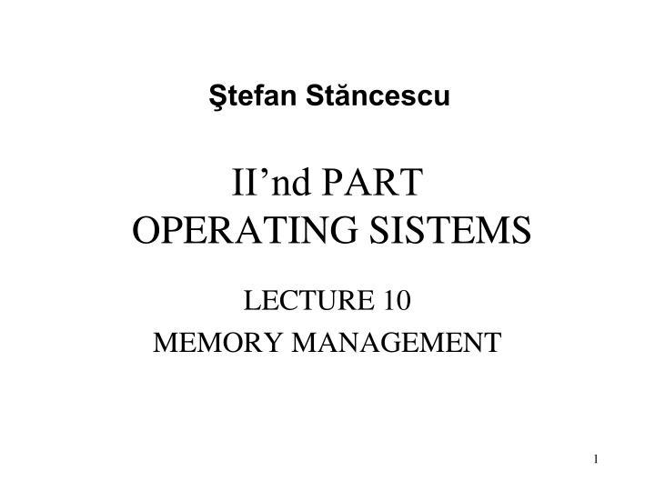ii nd part operating sistems n.
