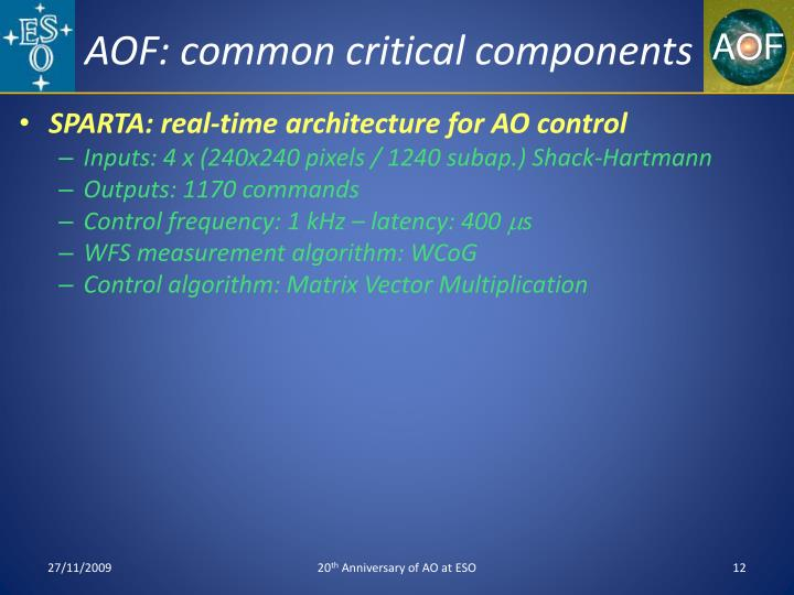 AOF: common critical components
