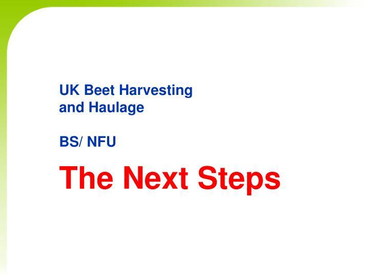 uk beet harvesting and haulage bs nfu n.