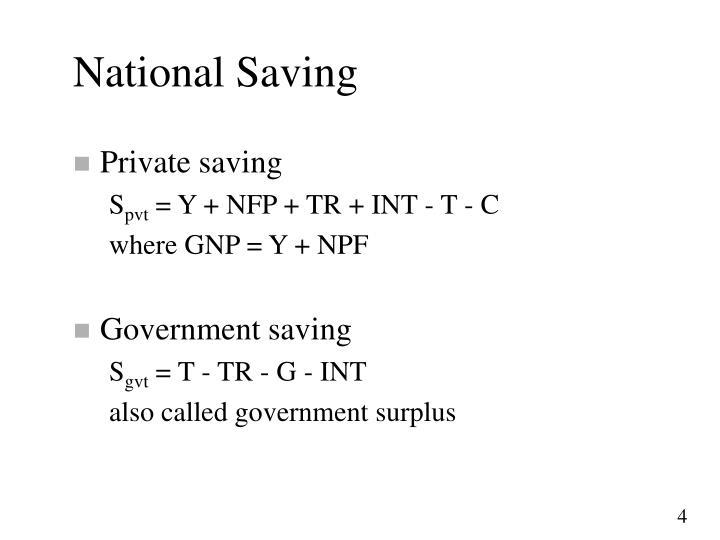 National Saving