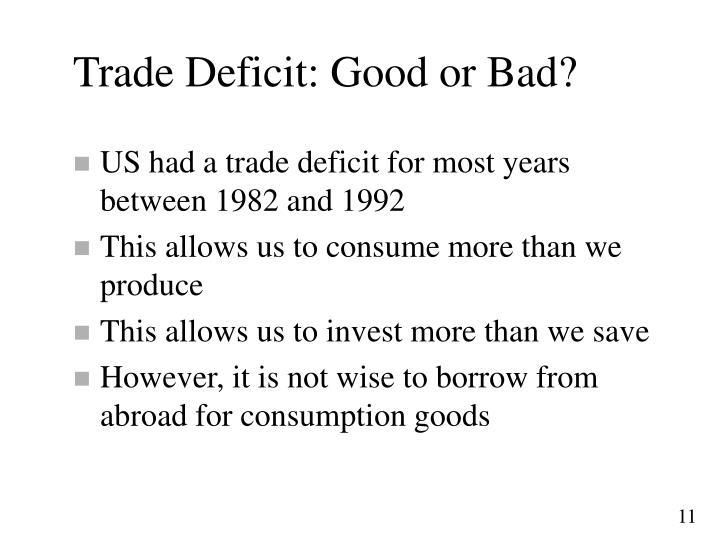 Trade Deficit: Good or Bad?
