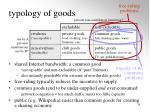 typology of goods