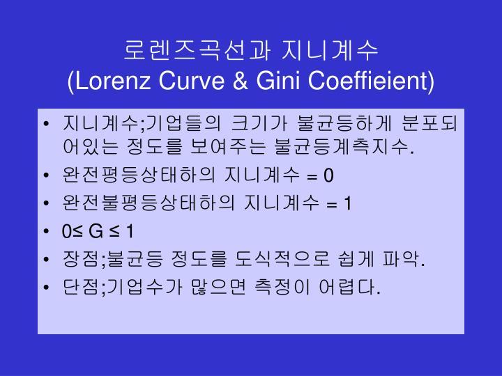 Lorenz curve gini coeffieient