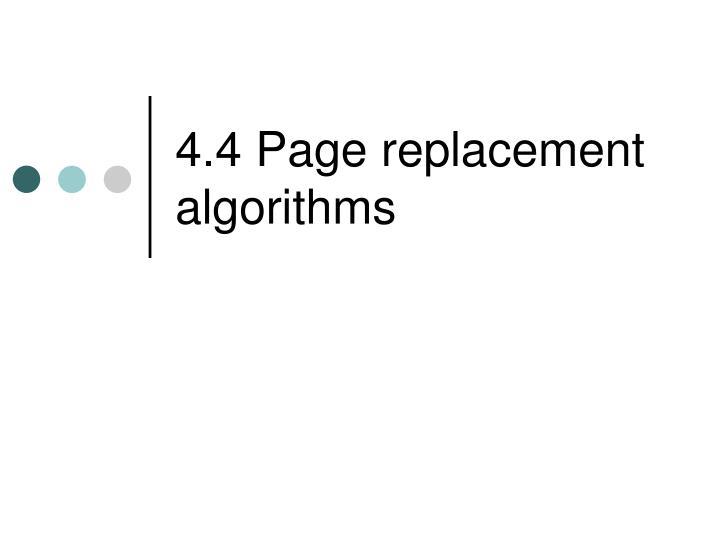 4 4 page replacement algorithms