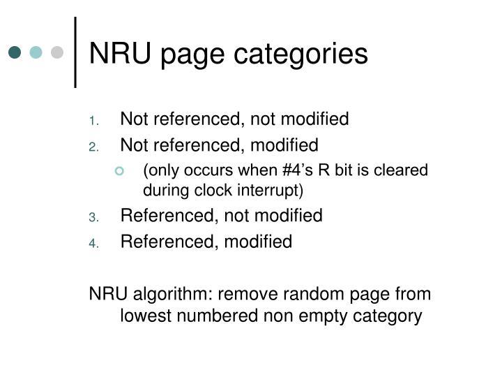 NRU page categories